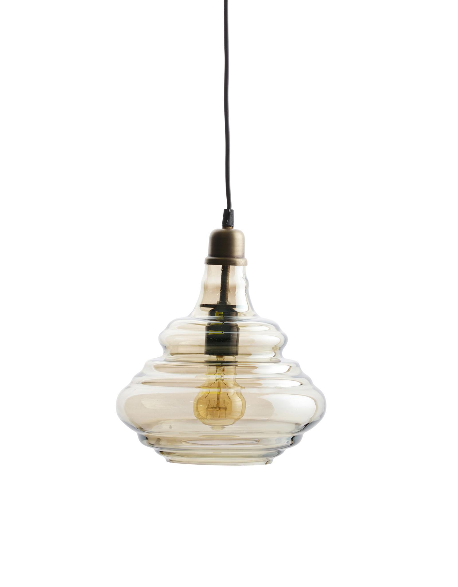 Pure Vintage Hanglamp Glas Antique Brass
