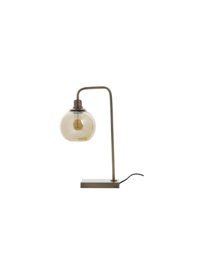 Lantern Tafellamp Metaal Antique Brass