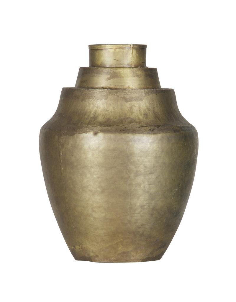 Cheer Vaas Metaal Antique Brass