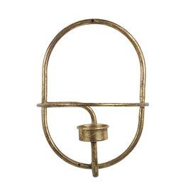 Shadow Waxinehouder Rond Metaal Brass