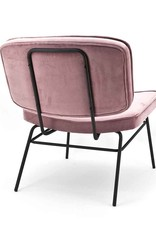 By-Boo Lounge chair Lana - Old pink