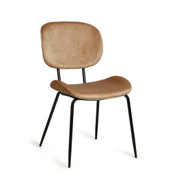 HK living Chair Tess Velours zandkleurig
