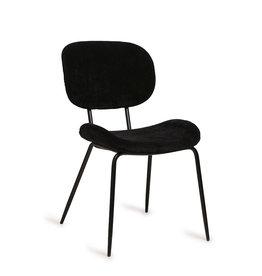 HK living Chair Tess zwart rib stof