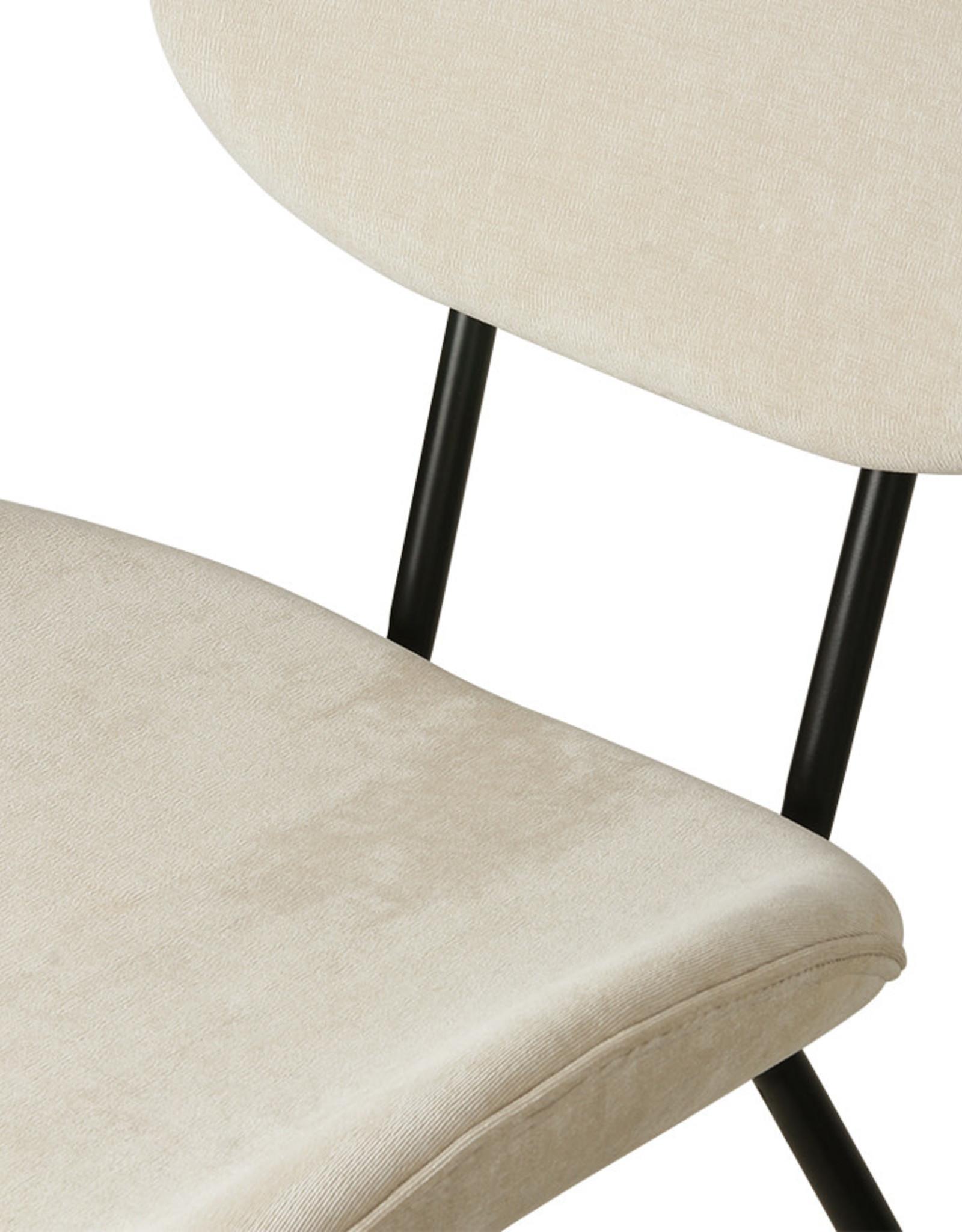 HK living Chair Tess creme rib stof