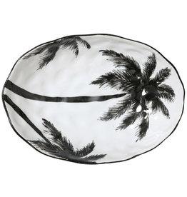 HK living Zwart witte palmbomen schaal