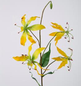 Kunstbloem Gloriosa geel