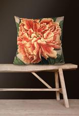 Vanilla Fly Kussen velours grote bloem 50x50