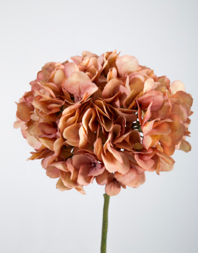Kunstbloem Hortensia oranje