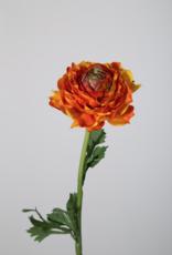 Kunstbloem Ranonkel oranje