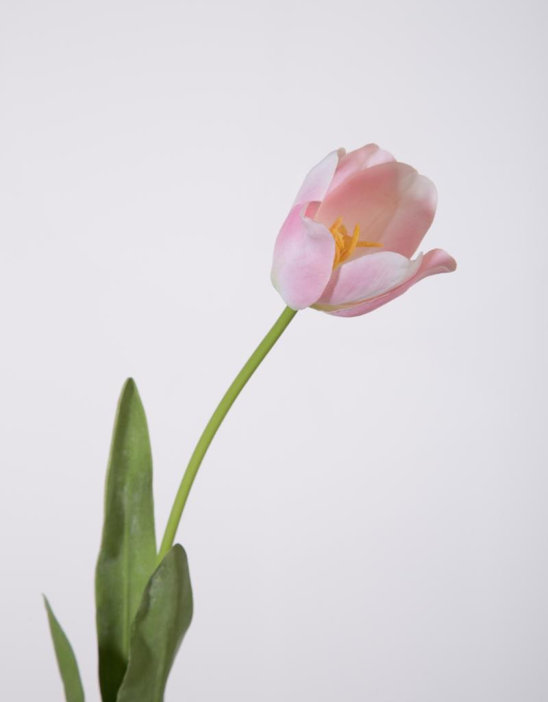 Kunstbloem Tulp licht roze