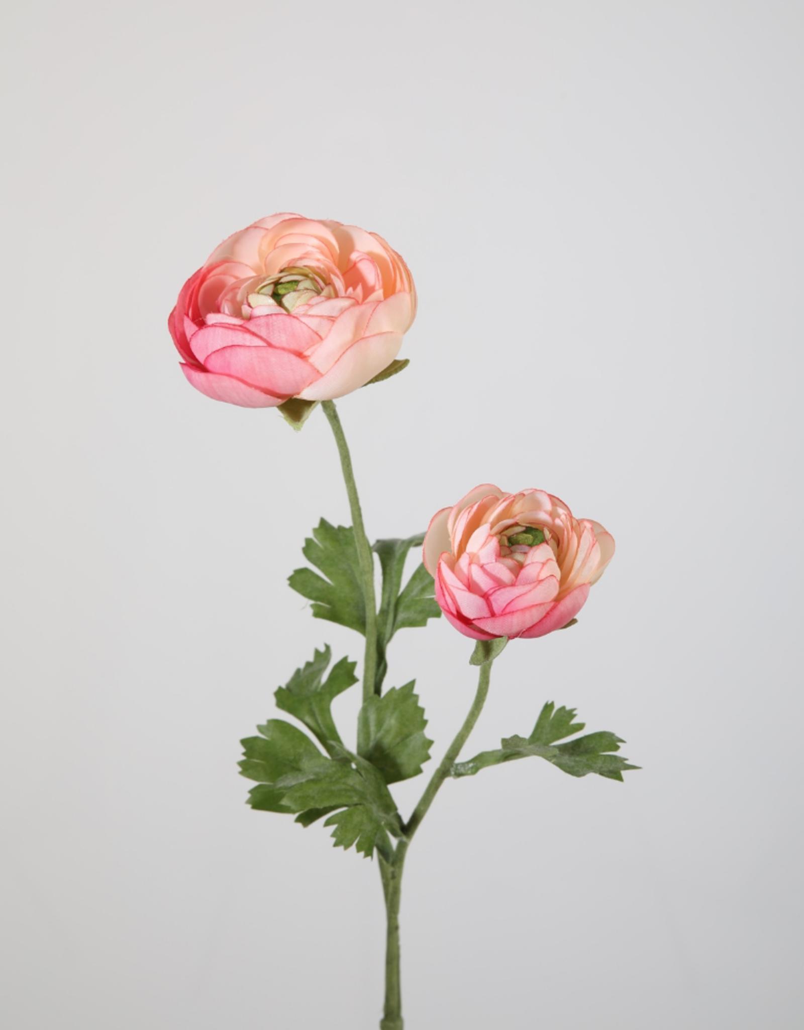 Kunstbloem Ranonkel roze