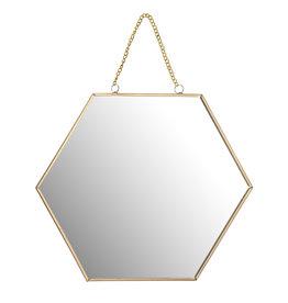 Blooming Spiegel Hexagon - goud / zwart