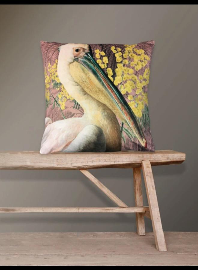 Kussen Velours Pelican Pink 50x50