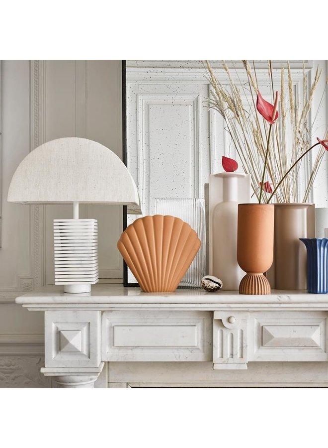 HKliving Ceramic Shell Vase Terra - L