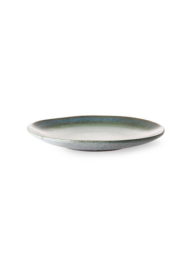 HKliving Ceramic 70's Dessert Plate - Moss
