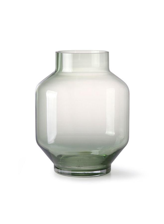 HKliving Green Glass Vase - L