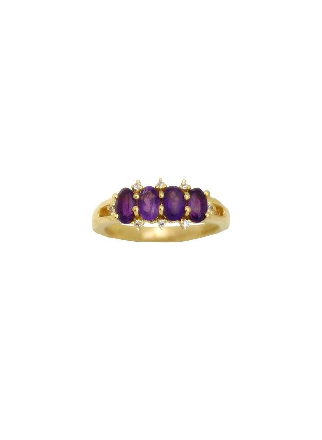 Vintage Amethyst ring gold