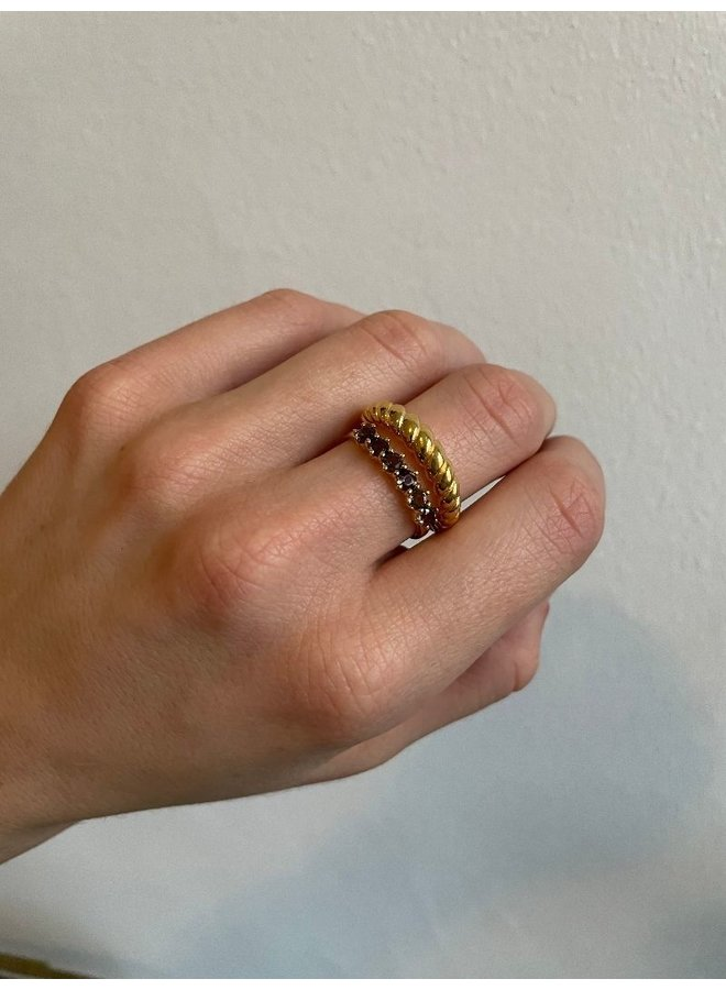 Vintage Smoky ring gold