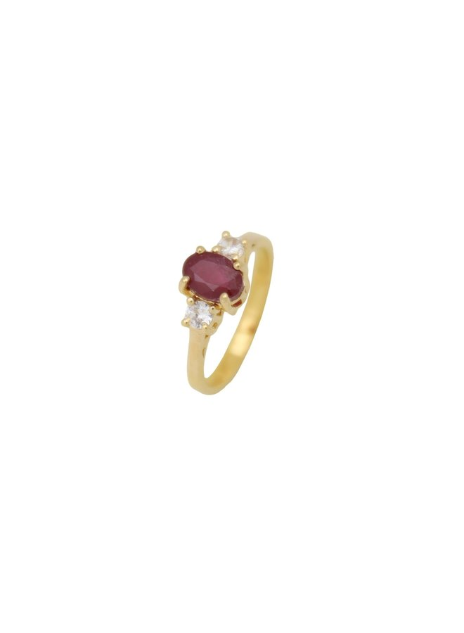 Vintage Ruby ring gold