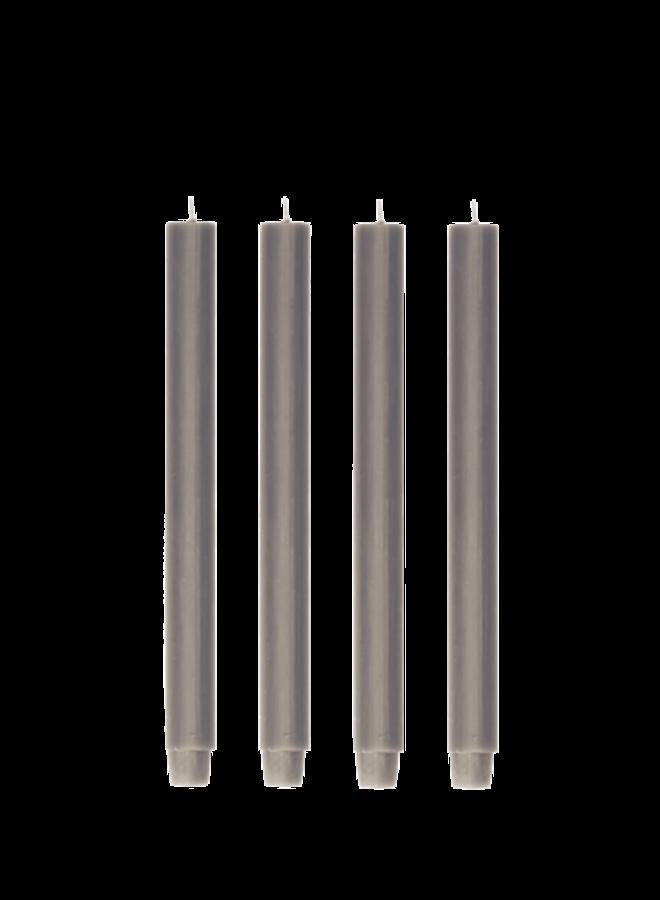 Kaars - Taupe / set van 4
