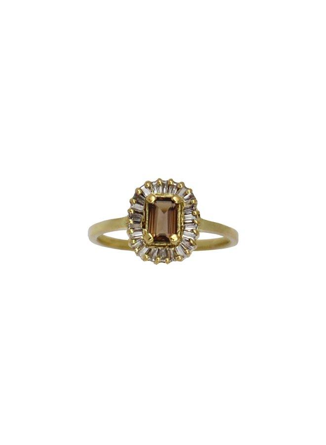 Vintage Smoky Baguette Diamond