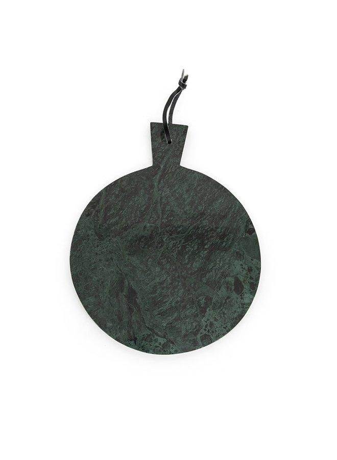 Marmeren dienblad rond -  groen