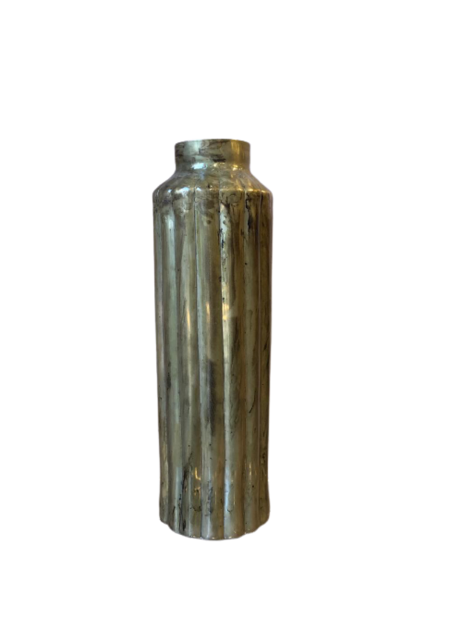 Metalen vaas Pewter - 59cm