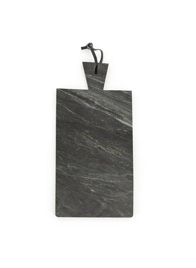 Marmeren dienblad - zwart