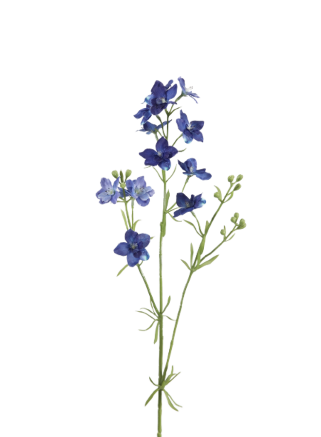 Kunstbloem Delphinium klein - blauw