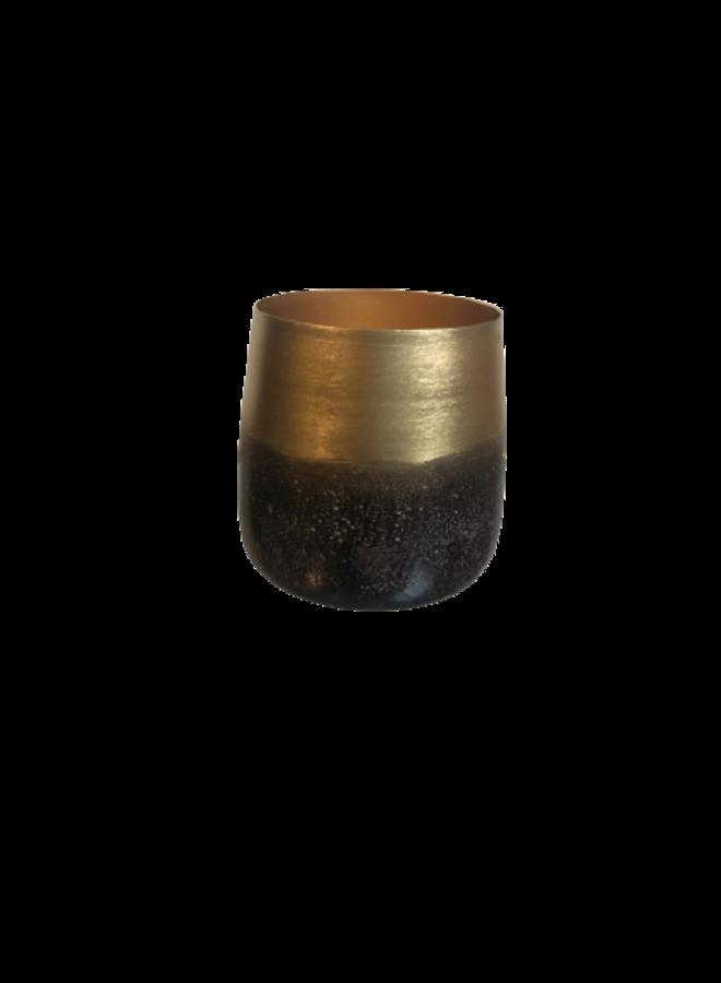 Theelicht goud/bruin