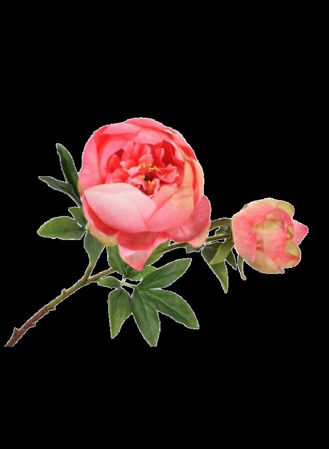 Kunstbloem Pioenroos - fel roze
