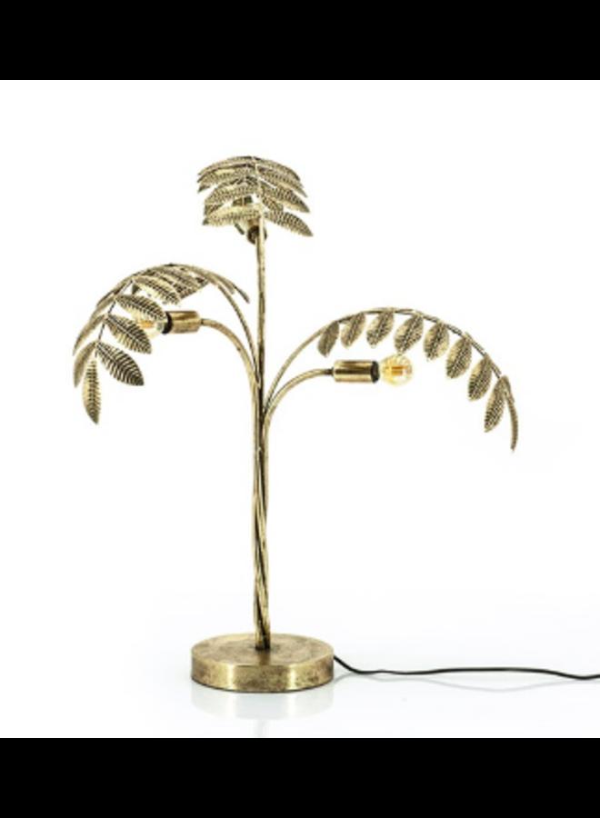 Tafellamp Blad - goud