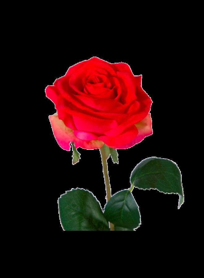 Kunstbloem Roos rood
