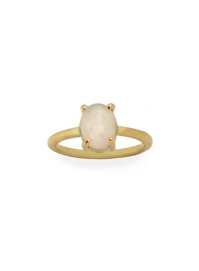 Vintage Opal ring gold