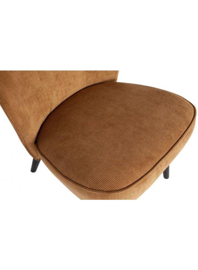 Lise fauteuil ribstof - honing geel