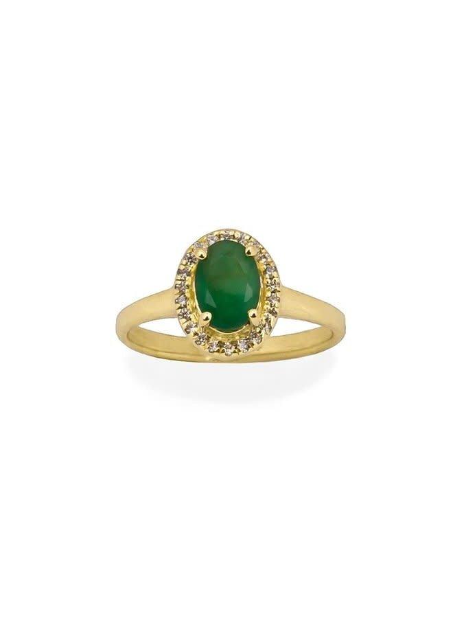 Vintage Emerald ring gold
