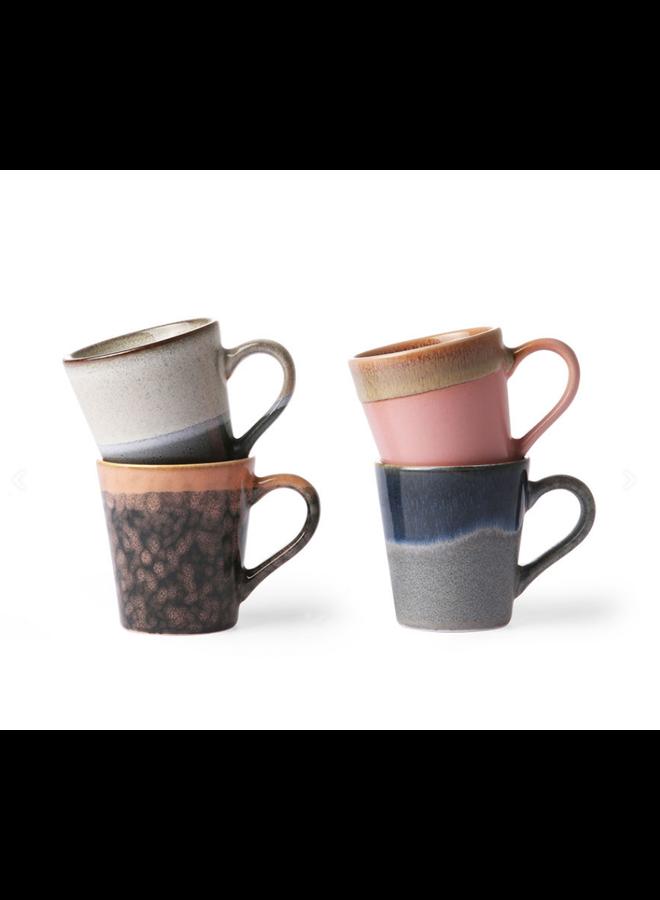 HKliving Espresso mokken van keramiek - set van 4