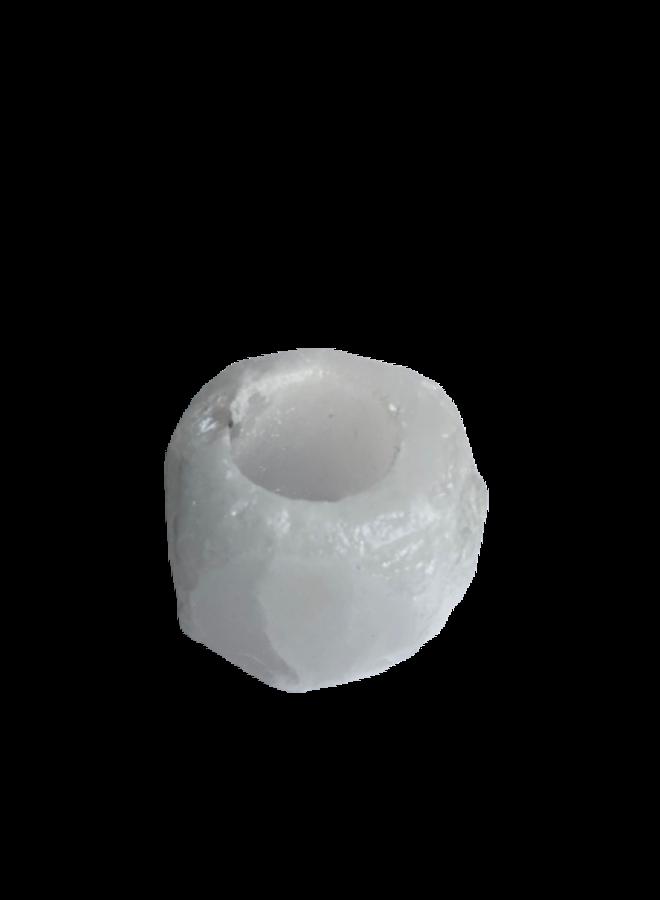 Himalaya zout waxine houder - 3 kleuren