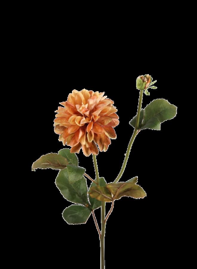 Kunstbloem Dhalia - oranje