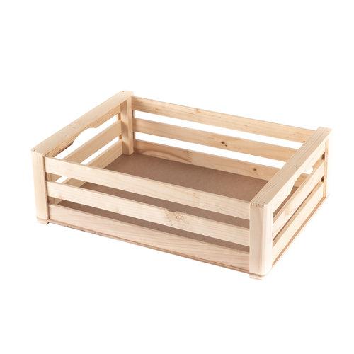 Bianca Collina Cestino di legno