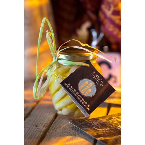Bianca Collina Punte di asparagi bianchi in olio di oliva - 314 ml