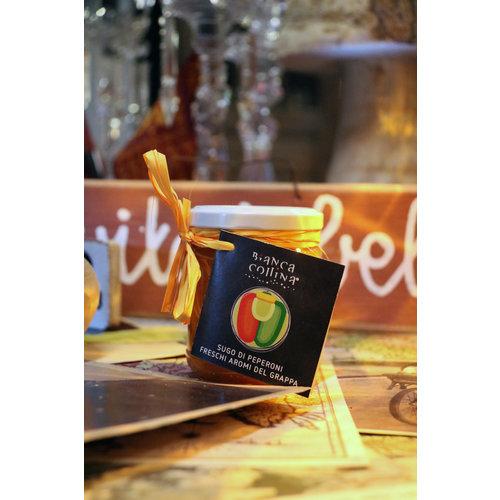Bianca Collina Sugo di Peperoni Freschi agli Aromi del Grappa - 200 g