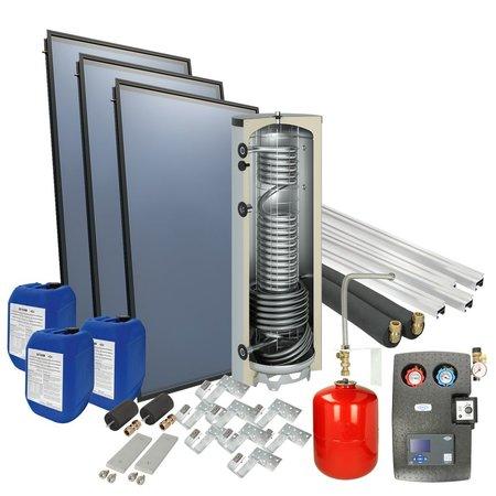 OEG Solarpakket 4plus® schuindak 400 l verswaterboiler 3 collectoren