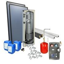 Solarpakket 4plus® schuindak 300 liter verswaterboiler 2 collectoren