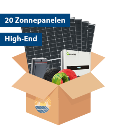 Set High-end Zonnepanelen (20 stuks / 6375 kwh)