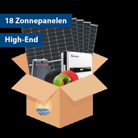 Set High-end Zonnepanelen (18 stuks / 5737 kwh)