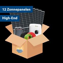 Set High-end Zonnepanelen (12 stuks / 3825 kwh)