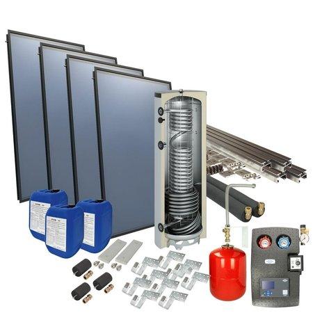 OEG Solarpakket 4plus® 4 collectoren 500 l verswaterboiler schuindak