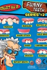 Funny teeth in 35 mm capsule navulling speelgoedautomaat