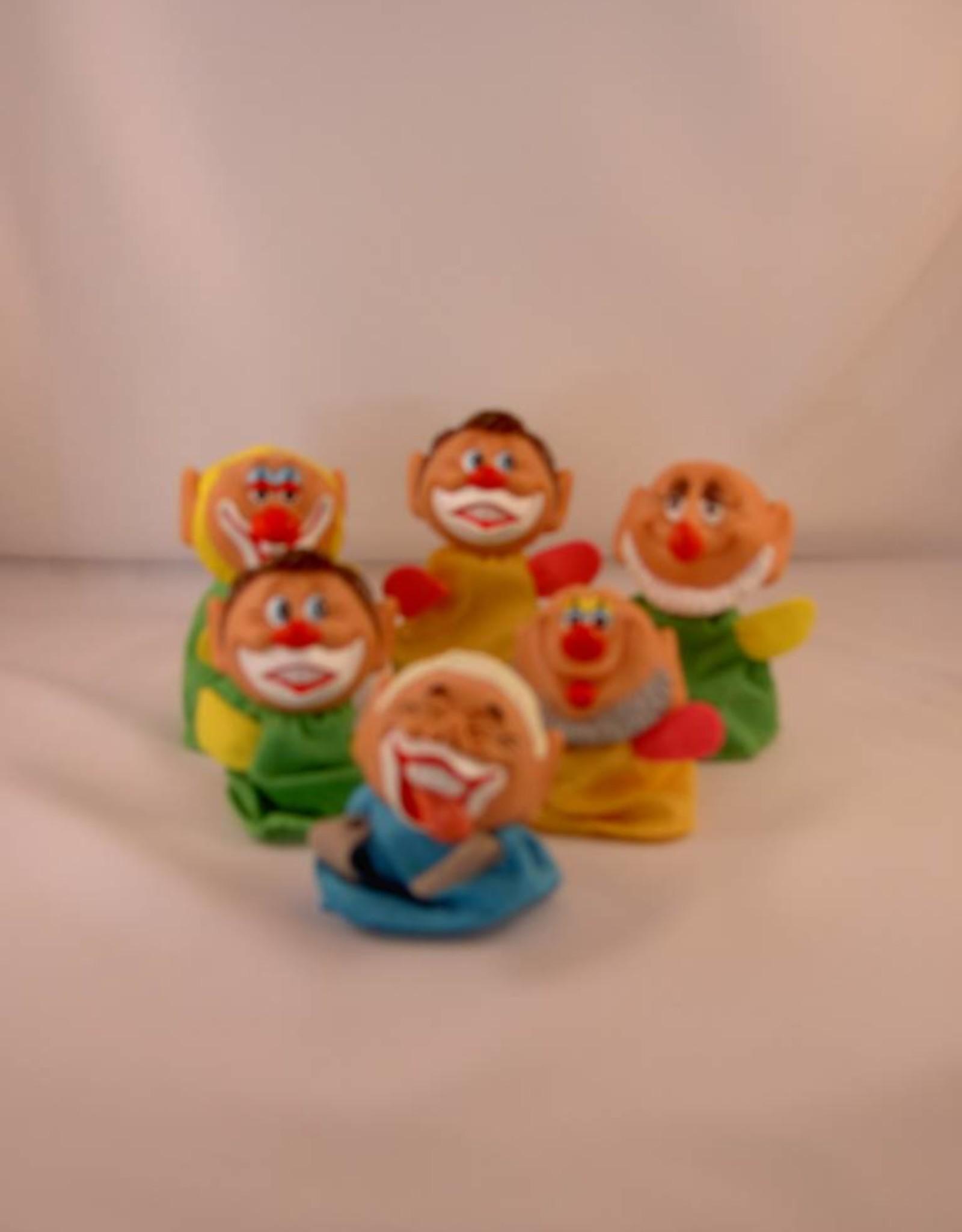 Vingerpoppetjes clowntjes